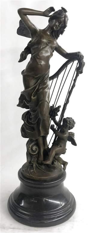 Moreau Art Deco Angel Bronze