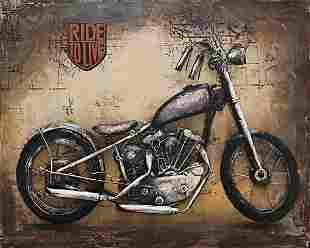 Harley Davidson Indian Motorcycle Bike 3-D Wall Mount