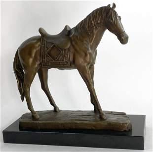 Fisher Large Horse Saddle Western Bronze