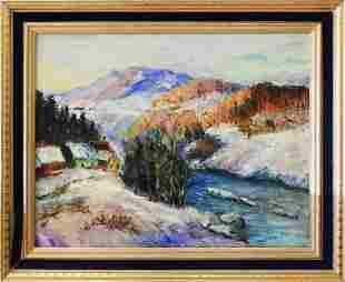 Carmela Serge or Gerge oil on canvas