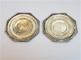 ANTIQUE STERLING SILVER PLATES
