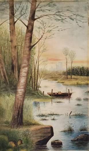Joseph Rusling Meeker watercolor on ppaer 1881