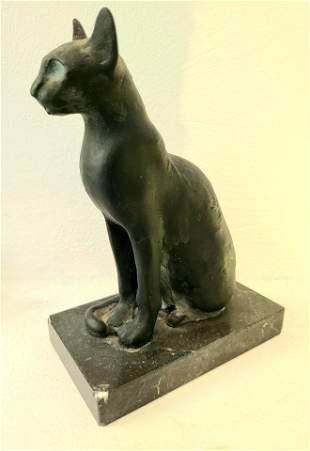 Beautiful Louvre Paris Egyptian Cat Sculpture