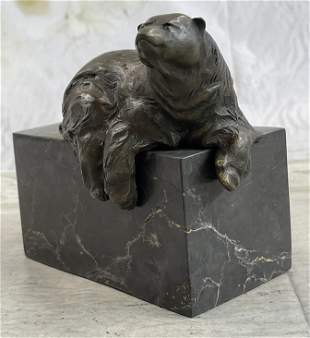 Milo Art Deco Polar Bookend Bronze