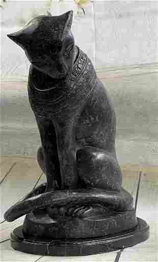 Thomas Egyptian Cat Bronze Sculpture