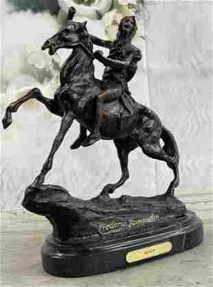 "Remington ""Scalp"" Indian Bronze Sculpture"