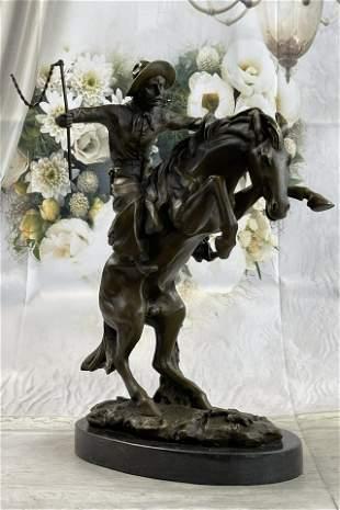 Remington Bronco Buster Bronze Sculpture