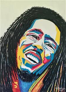 Marley Meditation Oil on Canvas Painting