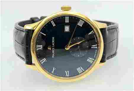 Mens Maurice Lacroix Automatic 18k Gold Watch