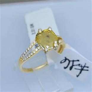 18K YG BROWN DIAMOND RING