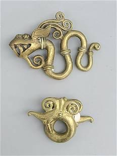 Antique Dragon Bronze Items