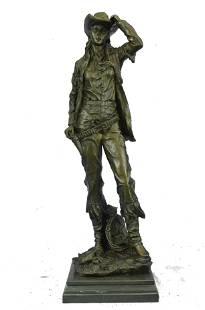Original Kamiko Western art Cowgirl Bronze