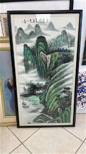 Antique Chinese Signed large painting