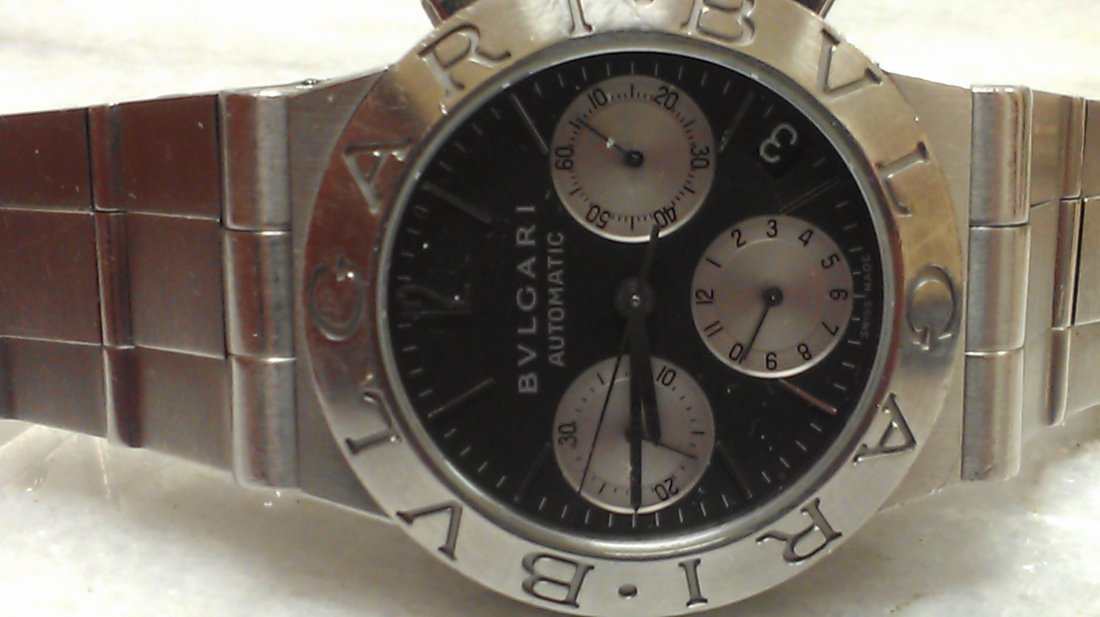 BVLGARI MENS LARGE SIZE AUTOMATIC STAINLESS STEEL