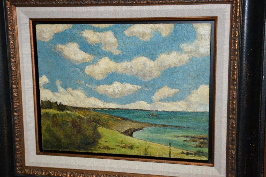 Leopoldo Romanach Oil on Canvas framed painting