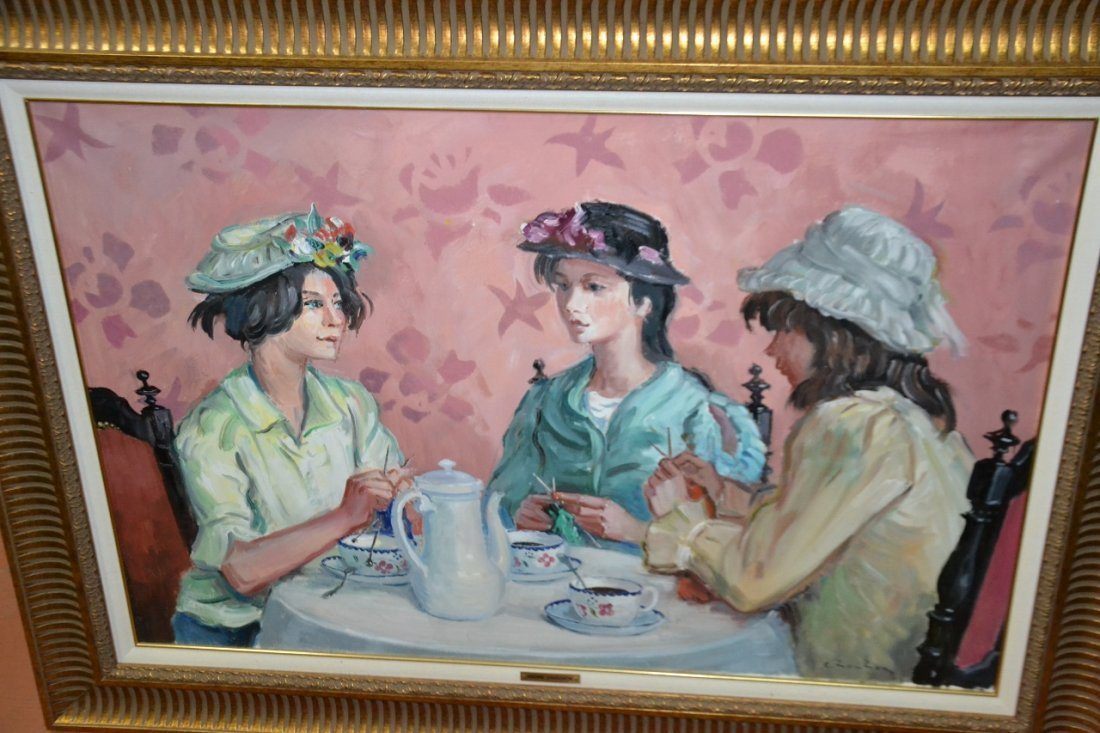 """Andre Chochon oil on canvas signed framed painting """""""