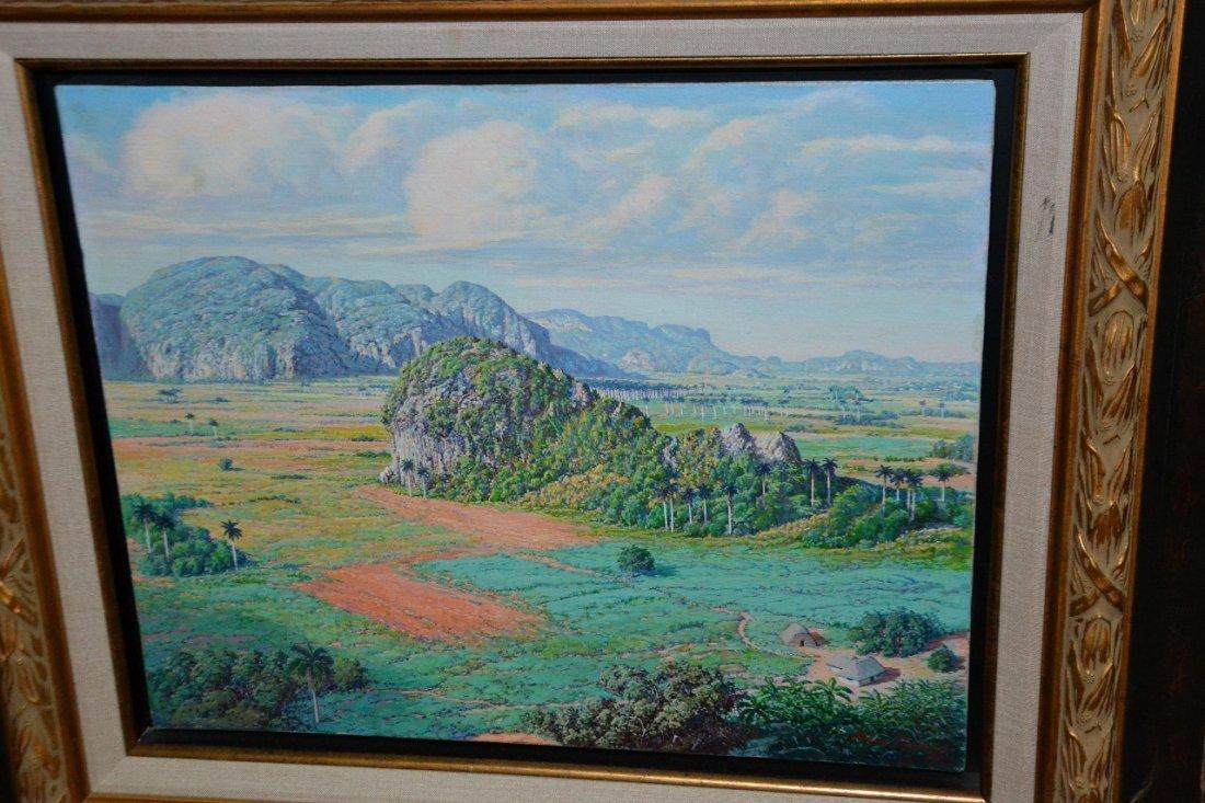 Felix Ramos oil on canvas signed framed painting