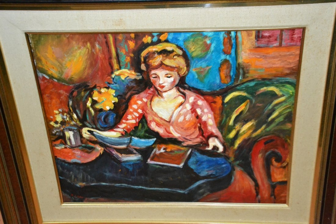 P. Cornu oil on canvas framed painting