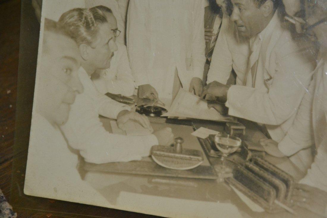 Vintage Carlos Prio Socarras leather desk set - 3