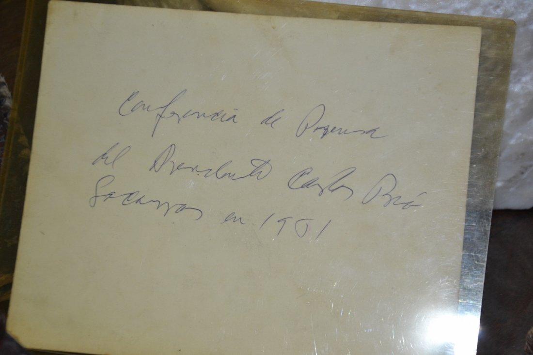 Vintage Carlos Prio Socarras leather desk set - 4