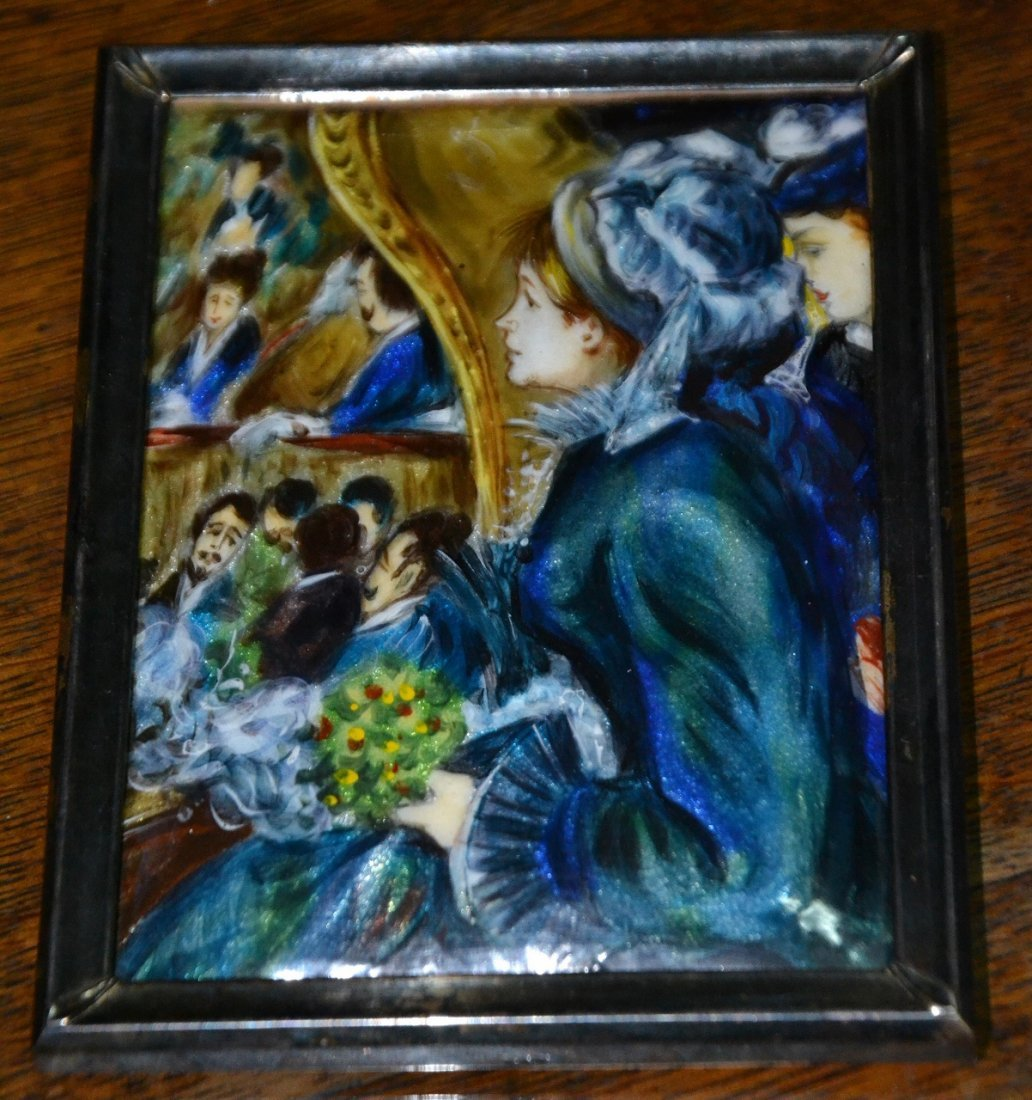 Vintage oil on Copper signed miniature painting with