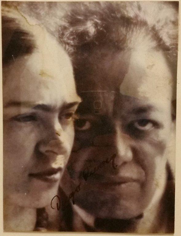 Diego Rivera Frida Khalo vintage photograph