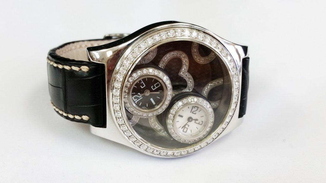 "DE La Cour ""Liberata"" Floating Diamond Watch"