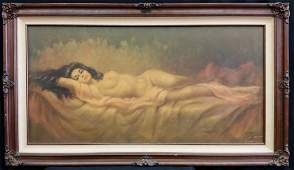 """VINCENT OIL ON CANVAS """"NUDE WOMAN"""""""