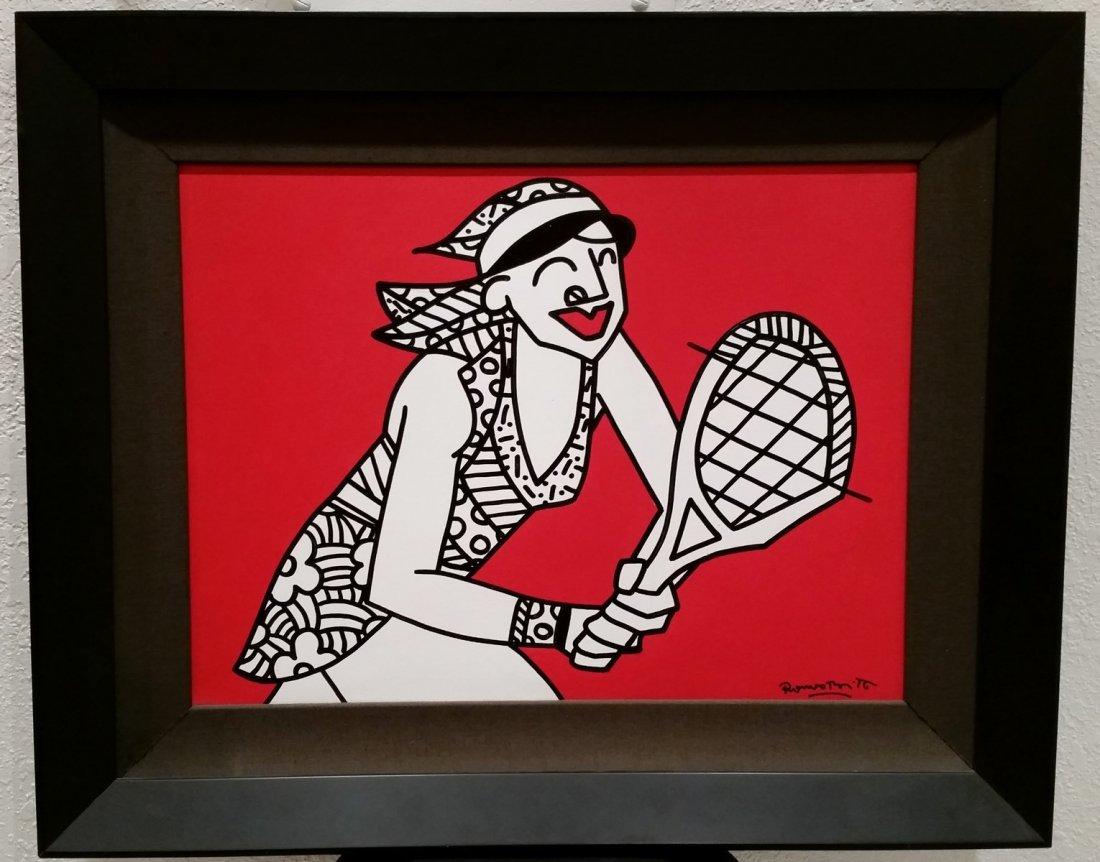 "Romero Britto ""Champion"" 2003 painting"