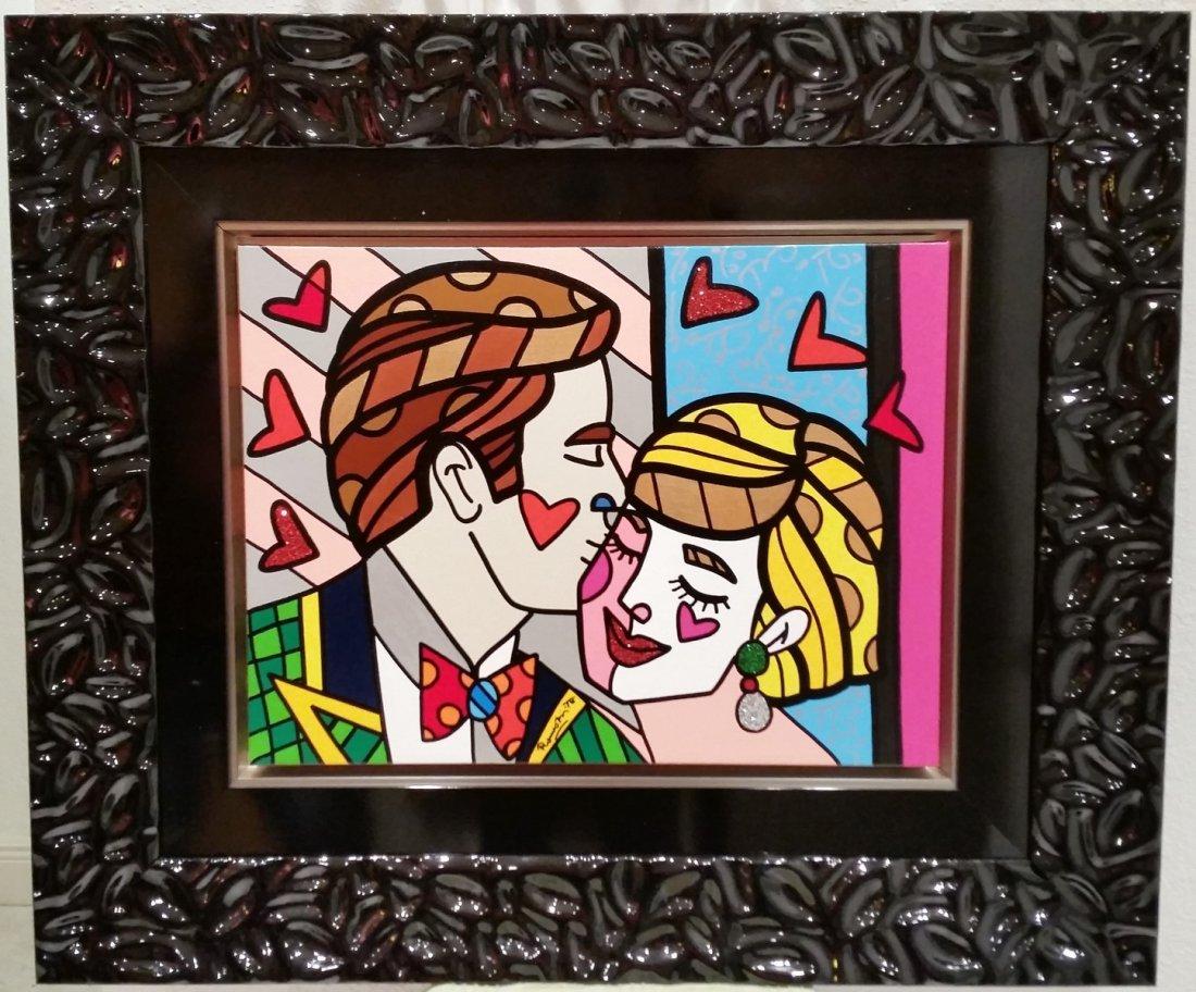 "Romero Britto ""Sweetie"" 2014 painting"