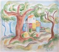 WATERCOLOR LISTED ARTIST AUGUST MACKE