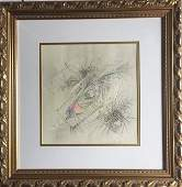 Latin American  Chile Art by Roberto Matta Dated 1985