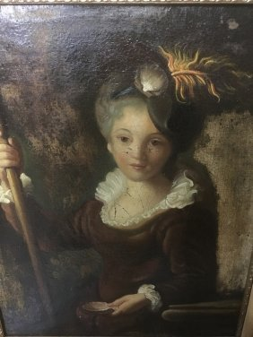 Great Vintage Oil Painting Of Woman