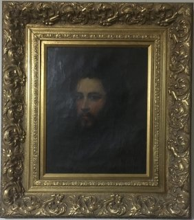 Old Oil Painting Of Man