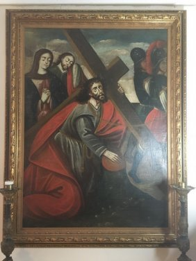 Cuzco School Huge Amazing Painting