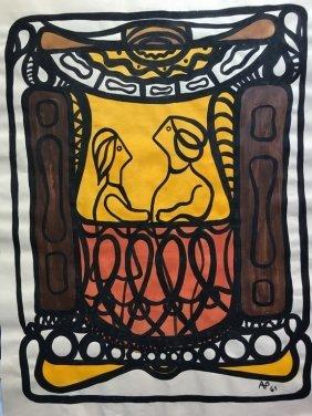Cuban Art Amelia Pelaez Signed Work