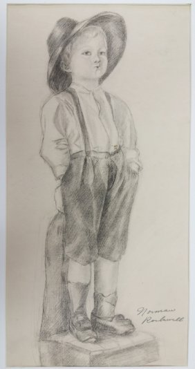 Norman Rockwell Graphite On Paper