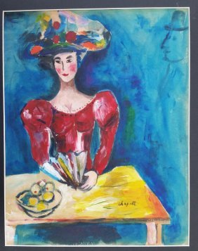 Chagall Watercolor Painting