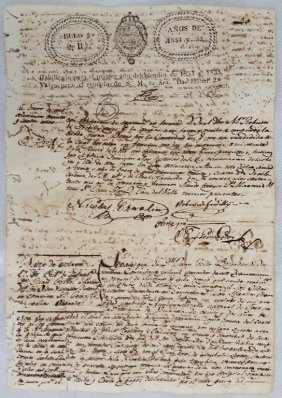 Antique Spanish Slave Letter