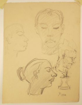 Picasso Graphite On Paper