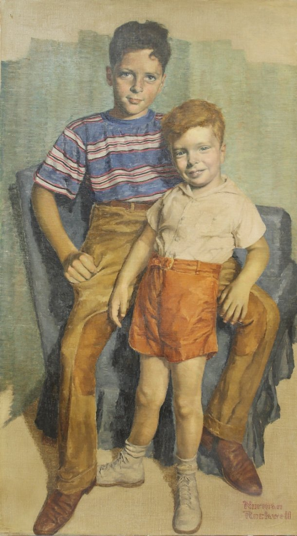 NORMAN ROCKWELL OIL ON CANVAS