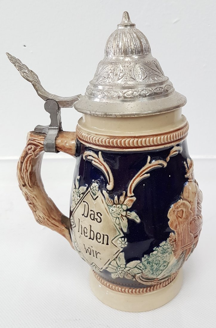 VINTAGE GERMAN PORCELAIN BEER STEIN