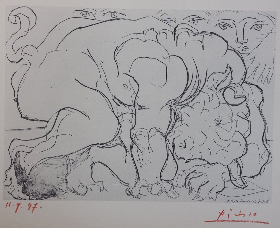 """""""SUITE VOLLARD"""" BY PABLO PICASSO SIGNED LITHOGRAPH"""