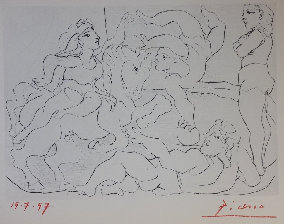 """SUITE VOLLARD"" BY PABLO PICASSO SIGNED LITHOGRAPH"