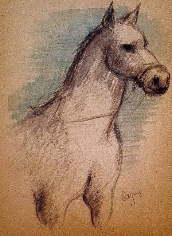 Edgar Degas (attrib.) watercolor on paper - 2