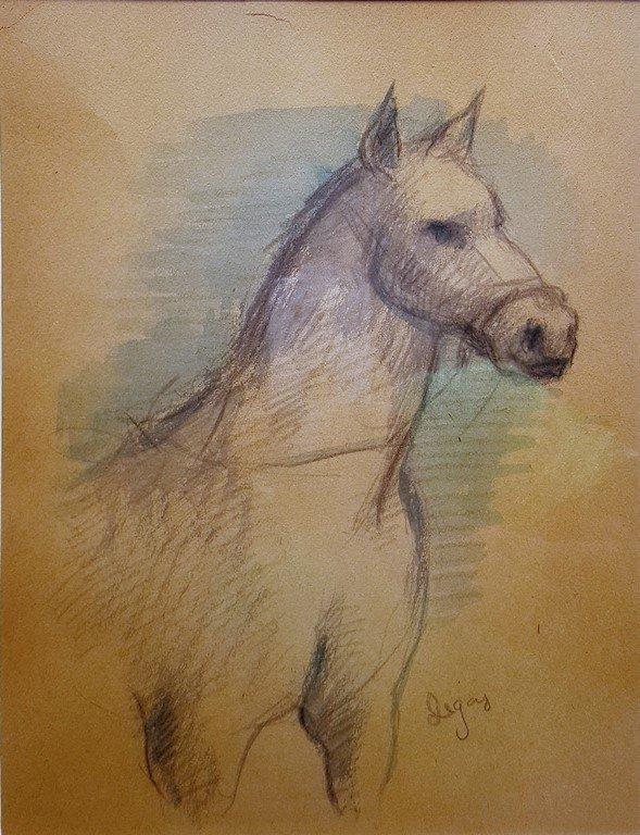 Edgar Degas (attrib.) watercolor on paper - 3