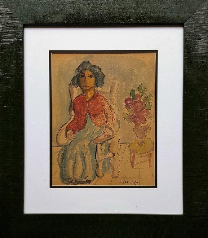 Raoul DUFY (attrib.) watercolor on paper
