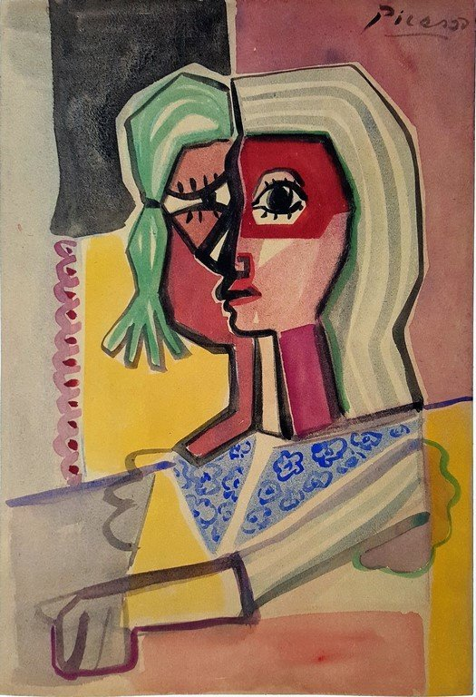 Pablo PICASSO (attrib.) watercolor on paper - 2