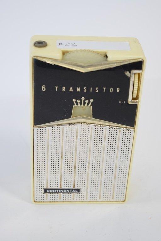 CONTINENTAL 6 TRANSISTOR RADIO