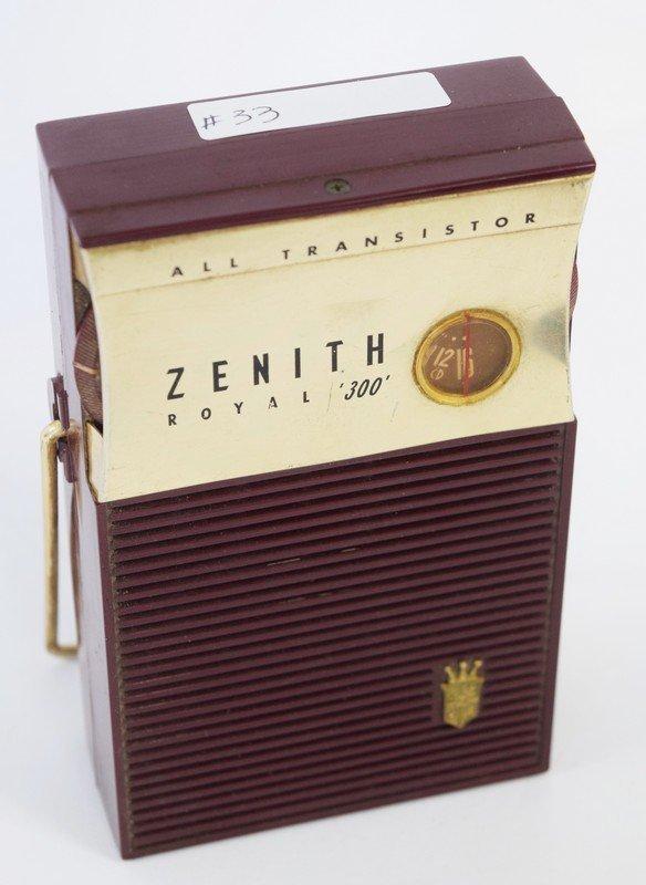 zenith royal 300 all transistor radio - 2